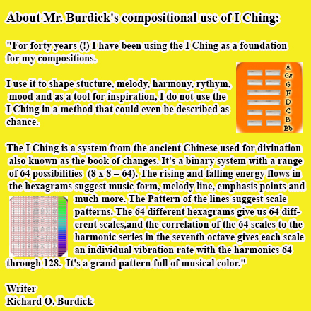Richard Burdick's I Ching Music